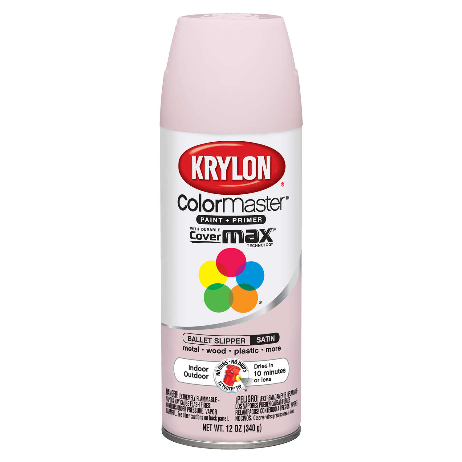 Krylon  Satin  Ballet Slipper  Smooth and Durable Paint  12 oz.