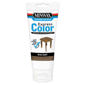 Minwax  Express Color  Semi-Transparent  Walnut  Water-Based  Acrylic  Wiping Stain and Finish  6 oz