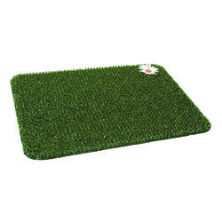 GrassWorx 24 in. L x 18 in. W Green Nonslip Door Mat