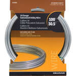 Hillman  0.078 - 0.082 in. Dia. x 100 ft. L Galvanized  Steel  14 Ga. Wire
