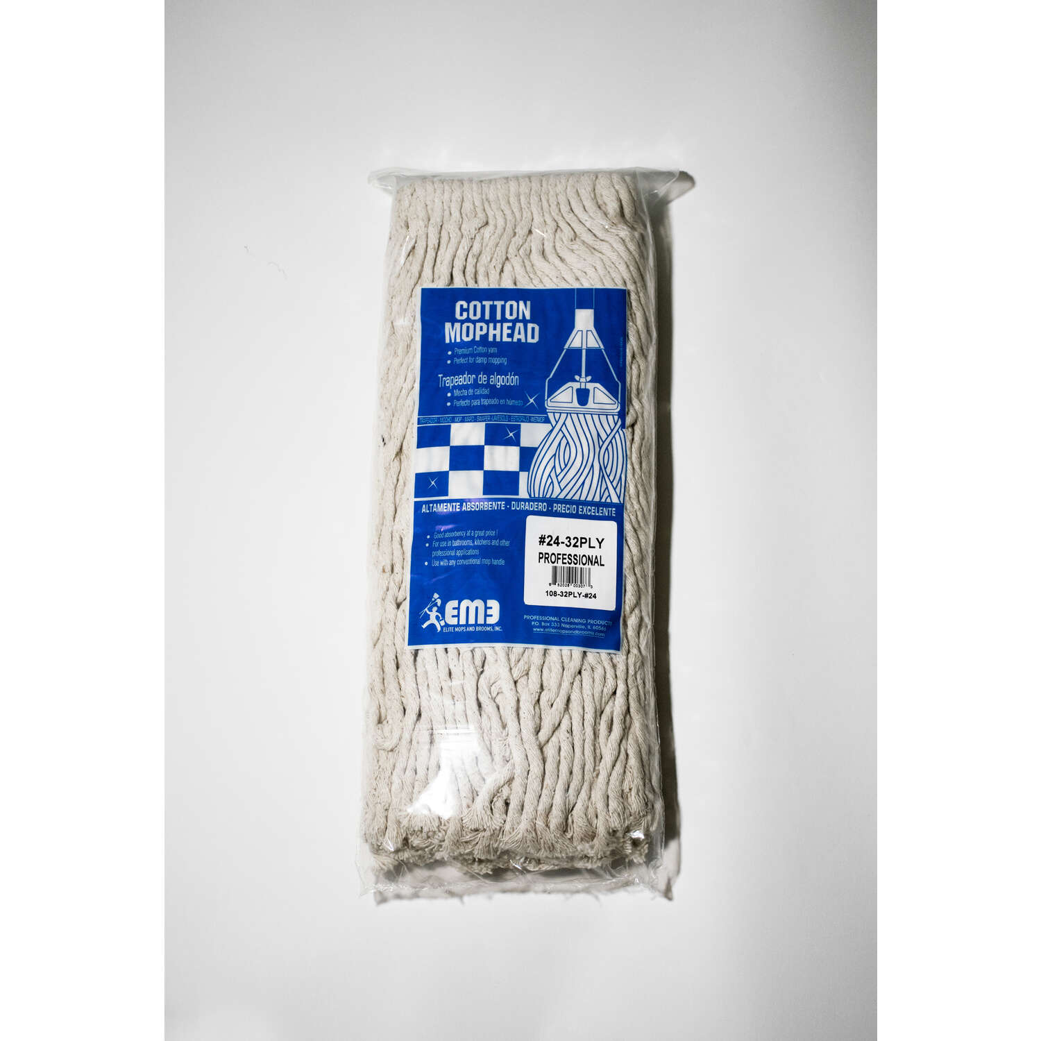 Lanier  4-Ply Cotton  Mop Head  1 pk