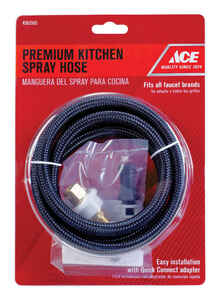 Ace  Black  Plastic  Side Spray Hose  For All Faucet Brands