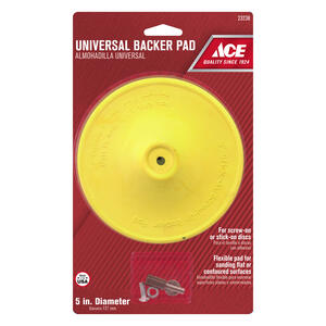 Ace  5 in. Dia. Plastic  Backing Pad  1/4 in.  3000 rpm 1 pc.