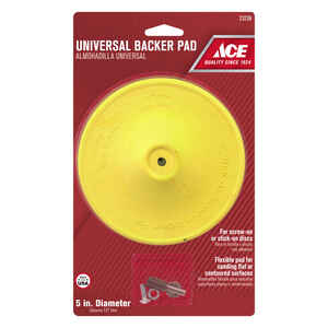 Ace  5 in. Dia. x 1/4 in.   Plastic  Backing Pad  3000 rpm 1 pc.