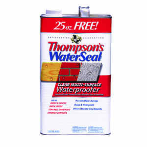 Thompson's Waterseal  Clear  Multi-Surface Waterproofer  1.2 gal. Smooth  Solvent-Based