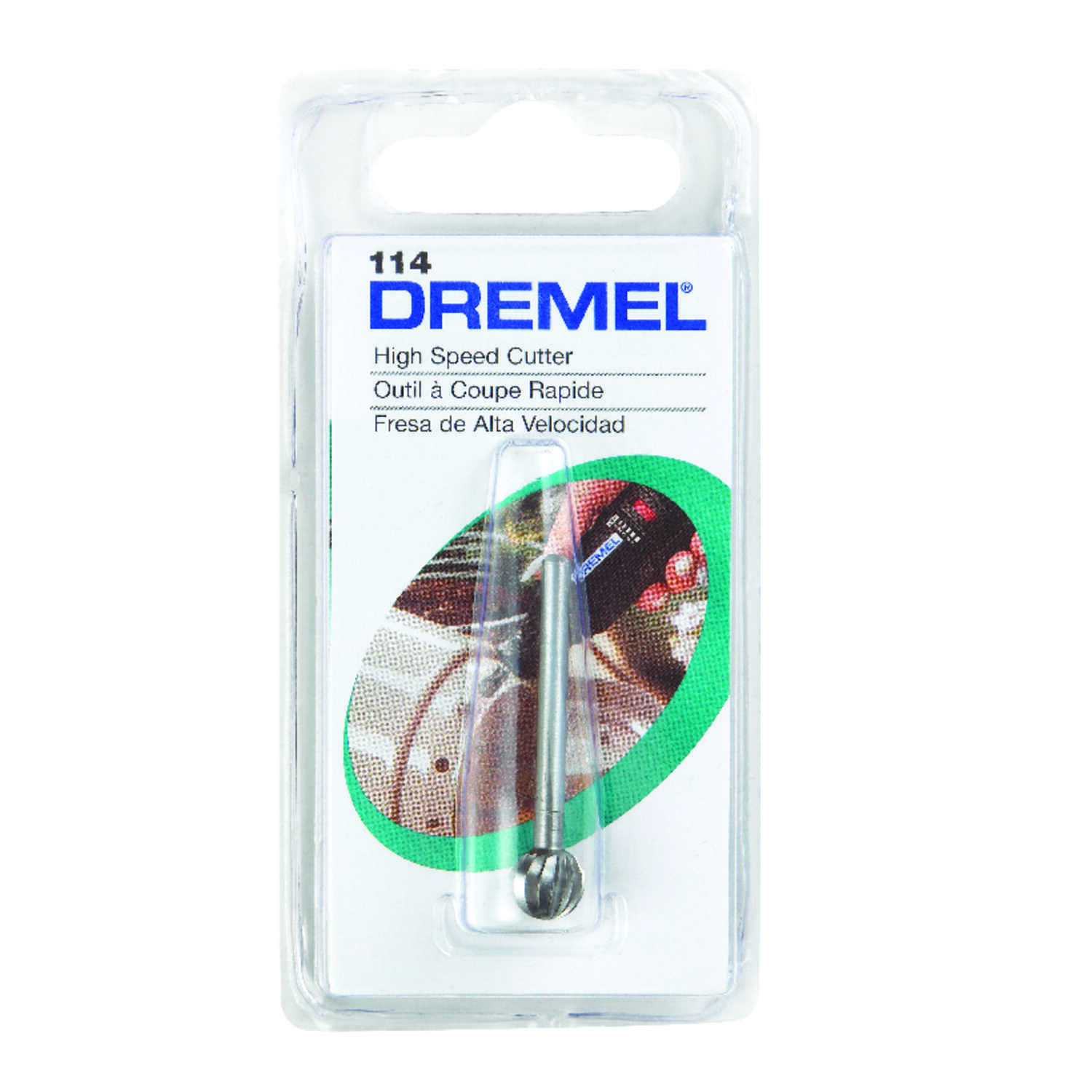 Dremel  5/16 in.  x 1.5 in. L x 1/8 in. Dia. High Speed Steel  High Speed Cutter  1 pk