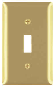 Pass & Seymour  Brown  1 gang Brass  Toggle  Wall Plate  1 pk