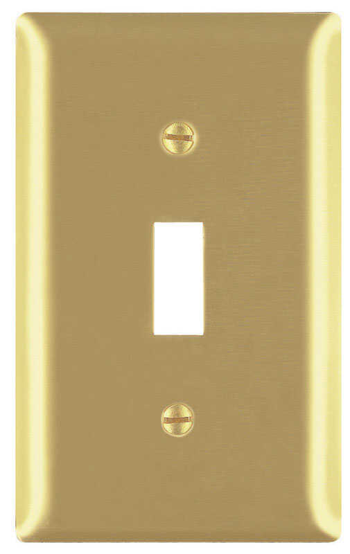 Pass & Seymour  1 gang Toggle  Wall Plate  1 pk Brass