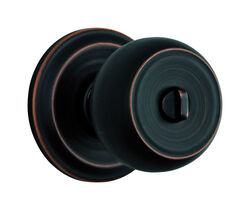 Brinks  Push Pull Rotate  Stafford  Oil Rubbed Bronze  Entry Knob  ANSI Grade 2  KW1  1.75 in.