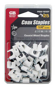 Gardner Bender  1/4 in. W Insulated Coaxial Staple  25 pk Plastic