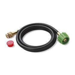 Weber  Stainless Steel/Rubber/Brass  Gas Line Hose and Adapter  For Gas Grills 72 in. L x 0.5 in. W
