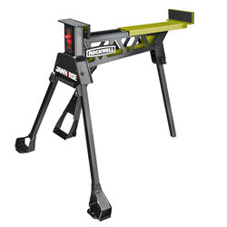 Rockwell  JawHorse  34 in. H x 37 in. W x 39 in. D Adjustable Folding Sawhorse  600 lb. capacity Gre