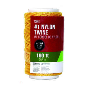 Ace  100 ft. L Braided  Gold  Twine  Nylon
