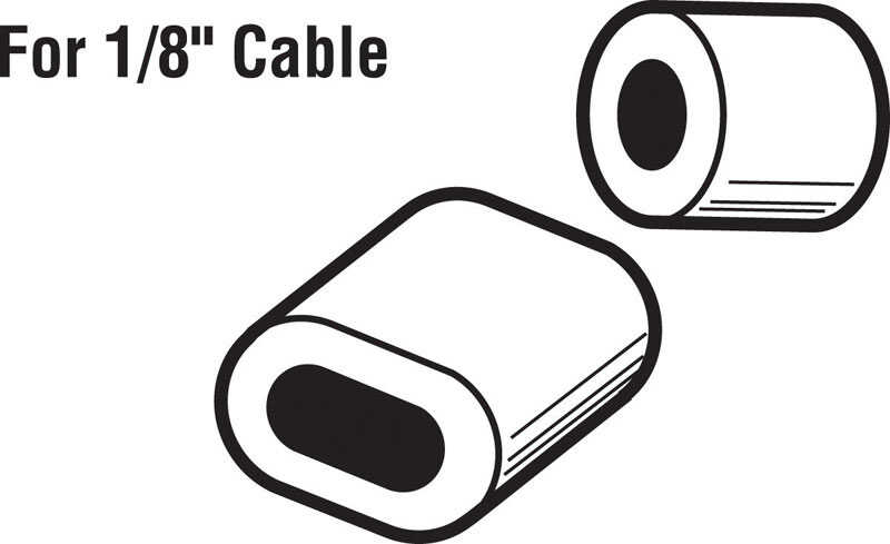 Prime-Line  1/8 in. Dia. Aluminum  Cable Ferrules and Stops