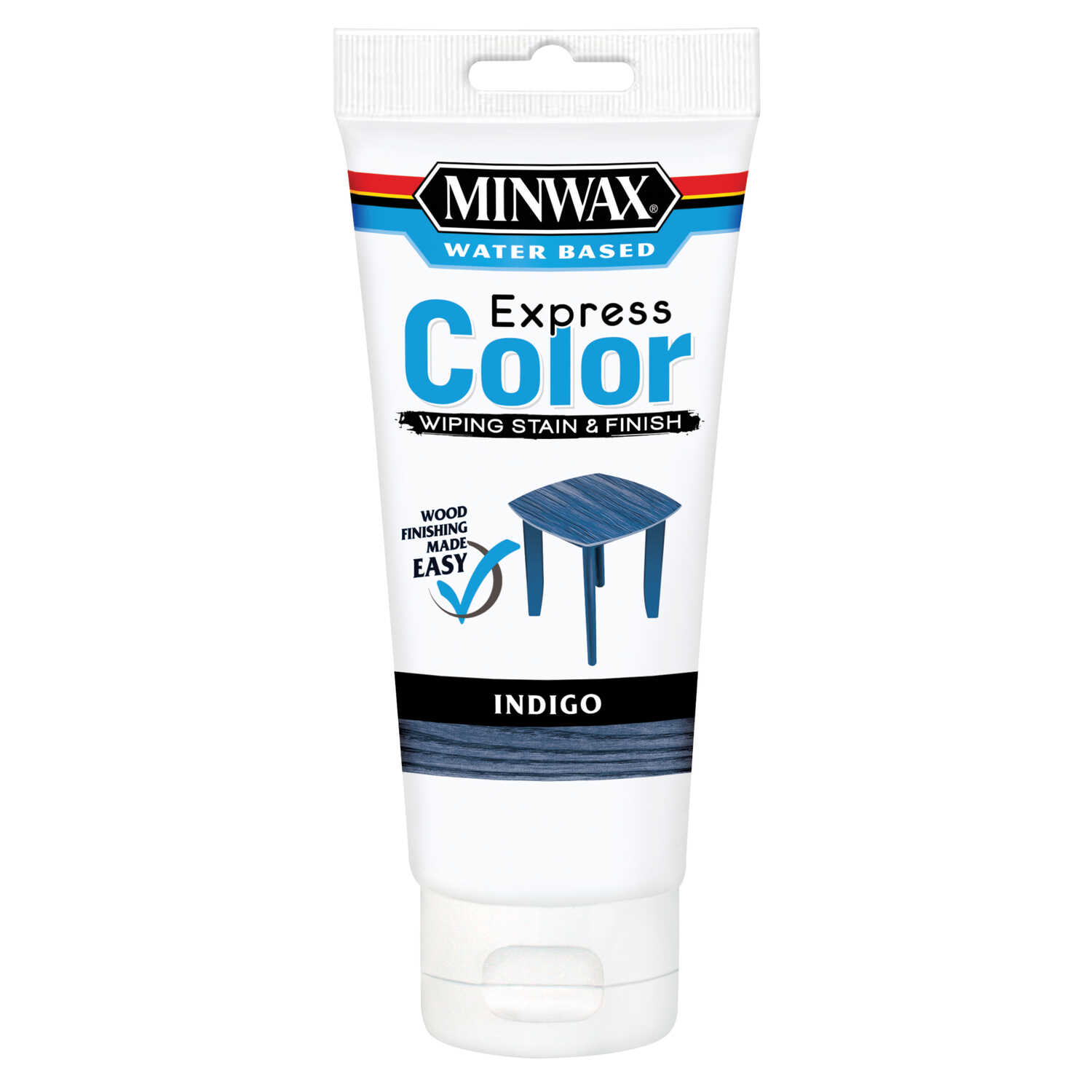 Minwax  Express Color  Semi-Transparent  Indigo  Water-Based  Acrylic  Wiping Stain and Finish  6 oz