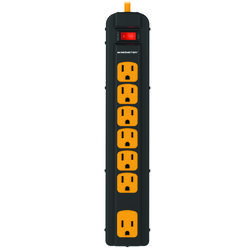 Monster  Just Power It Up  4 ft. L 7 outlets Power Strip w/Surge Protection  Black