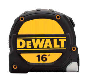 DeWalt  16 ft. L x 1.25 in. W Tape Measure  Black/Yellow  1 pk