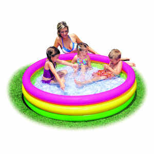 Intex  Sunset Glow  10 gal. Round  Plastic  Inflatable Pool  13 in. H x 5 ft. Dia.