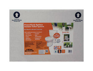 Star Water Systems  Powerflush Optima  ADA Compliant 1.28 gal. Complete Toilet