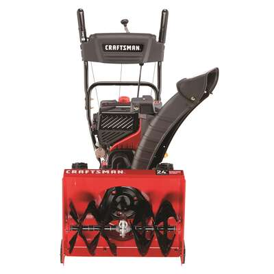 Craftsman  Quiet  24 in. 208 cc Two Stage Electric Start  Gas  Snow Thrower