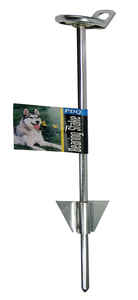 Boss Pet  PDQ  Silver  Tie-Out Stake  Metal  Dog  Tie Out Stake  Large
