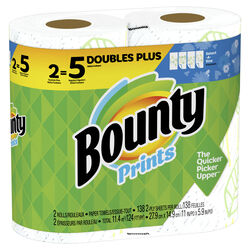 Bounty  Prints  Paper Towels  138 sheet 2 ply 2 pk