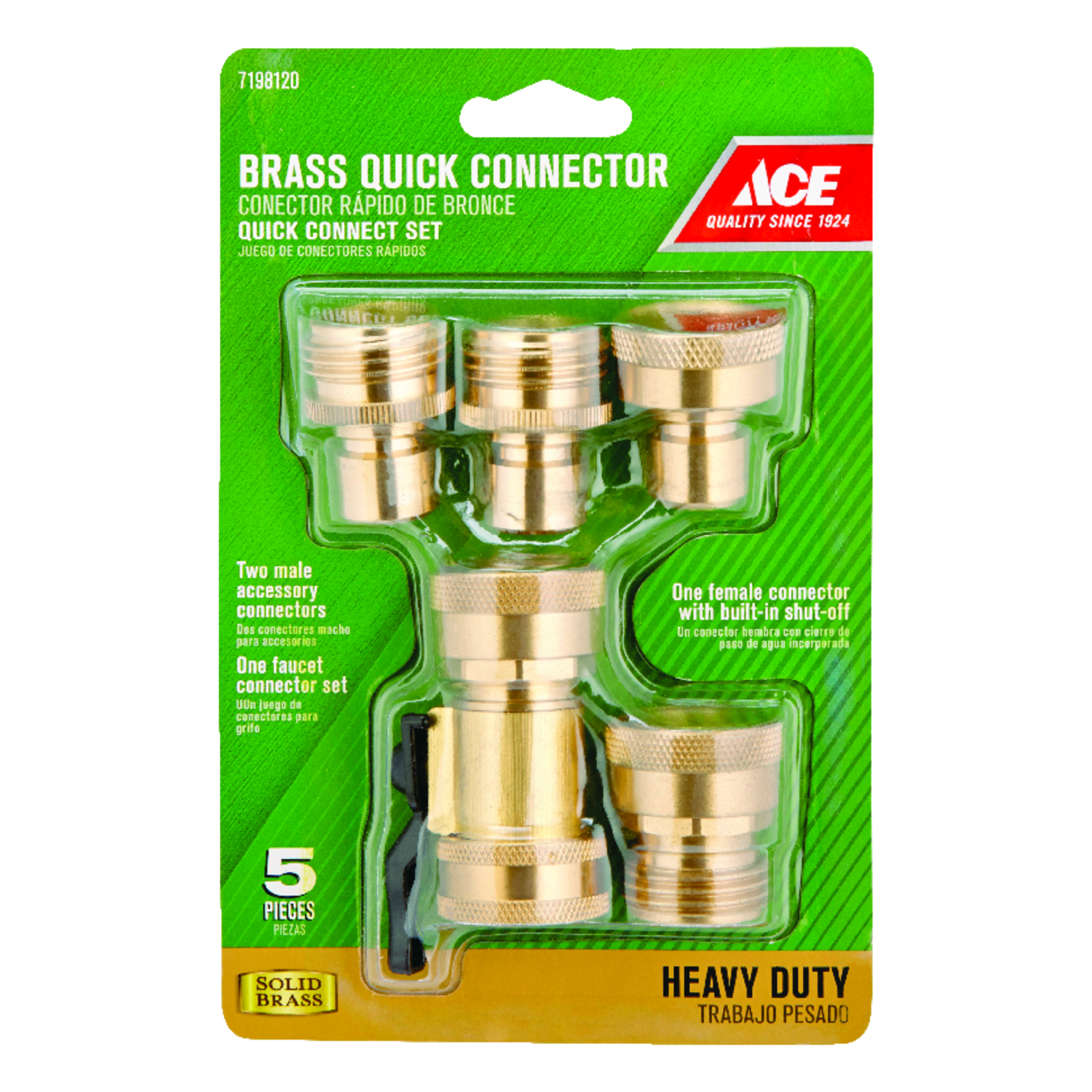Ace Brass Threaded Quick Connector Hose Set - Ace Hardware