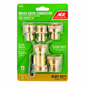 Ace  Brass  Threaded  Quick Connector Hose Set