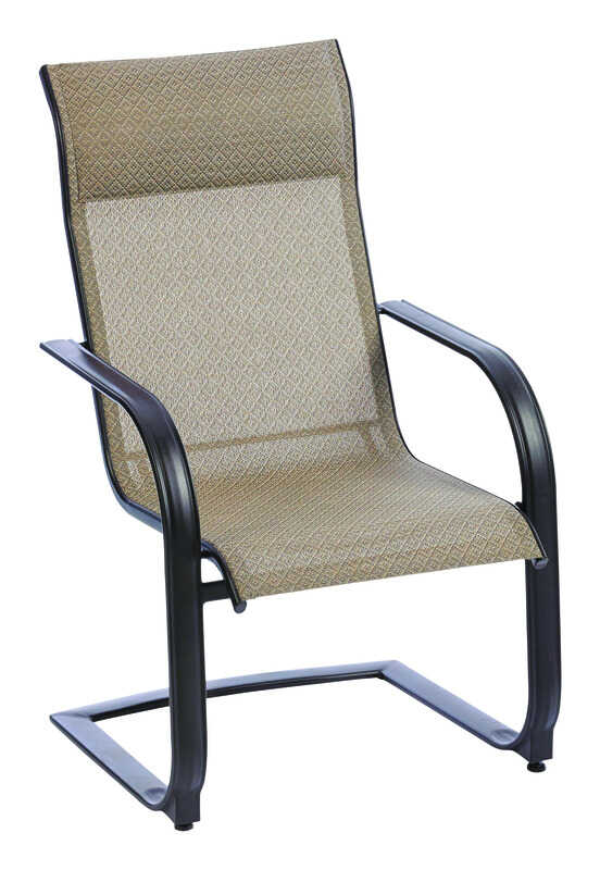 Living Accents  C-Spring  Dark Brown  Steel with Sling Fabric  Newport  Chair
