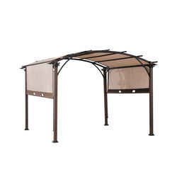 Living Accents  Fabric  Arched  Pergola  10 ft. H x 10 ft. L