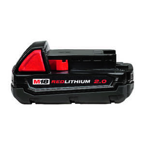 Milwaukee  M18  18 volt 2 Ah Lithium-Ion  Compact Battery Pack  1 pc.
