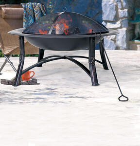 Living Accents  Ember  Wood  Fire Pit  19.5 in. H x 35 in. W x 35 in. D Steel