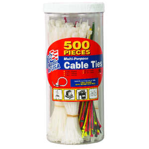 Gardner Bender  4, 6, 8  L Assorted  Cable Tie  500 pk
