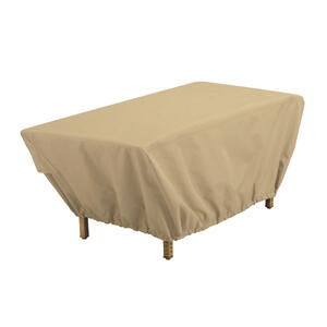 Classic Accessories  18 in. H x 25 in. W x 48 in. L Brown  Polyester  Coffee Table Cover