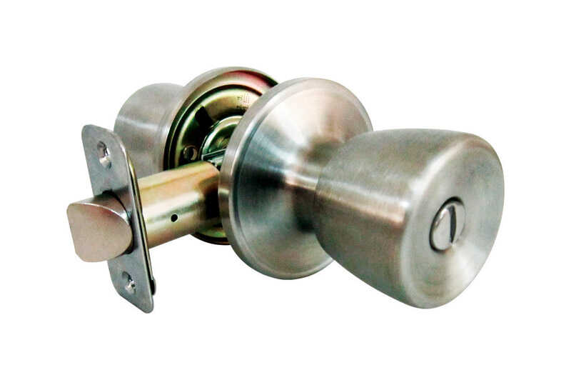 Faultless  Tulip  Satin Stainless Steel  Metal  Privacy Knob  3 Grade Right Handed