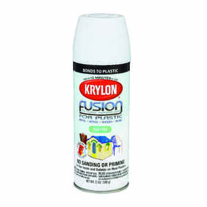 Krylon  Satin  Fusion Spray Paint  12 oz. White