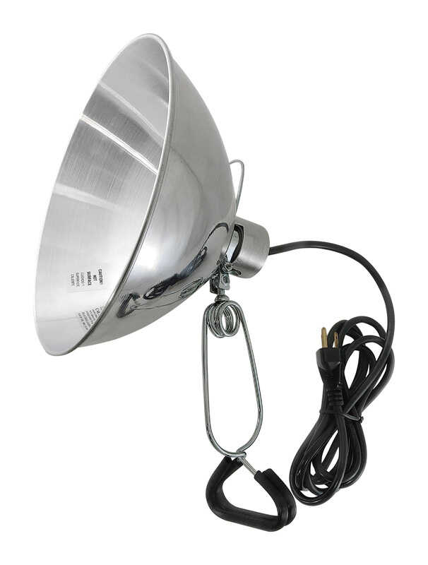 Ace  10 in. 150 watts Incandescent  Clamp Light