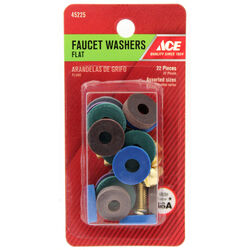 Ace  .5 in. Dia. Rubber  Flat Faucet Washer Assortment  22