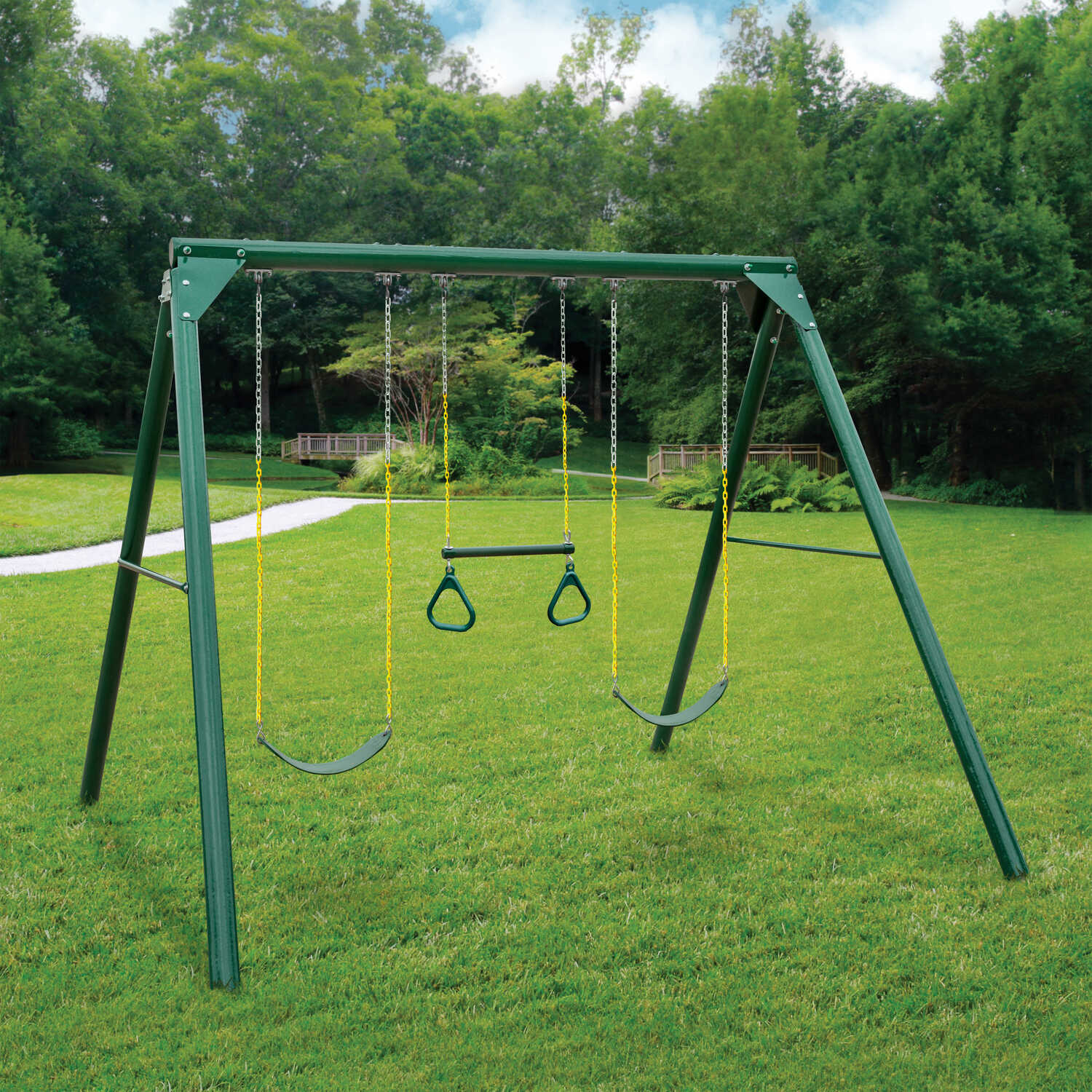 Swing-N-Slide  Orbiter  Swing Set  Metal