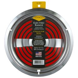 Stanco  Chrome Plated  Reflector Bowl  8 in. W