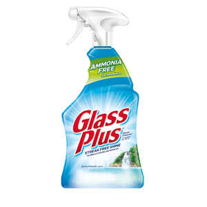 Glass Plus  No Scent Glass Cleaner  32 oz. Liquid