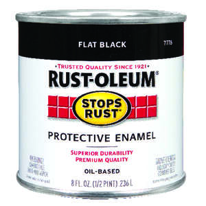 Rust-Oleum  Flat  Black  Protective Enamel  0.5 pt. Indoor and Outdoor