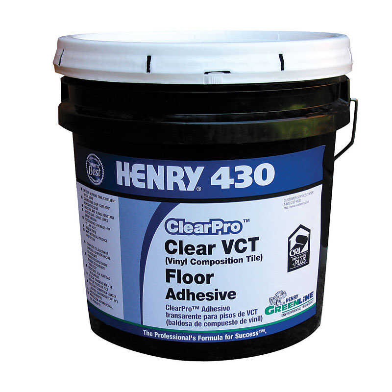 Henry 430 Clearpro Clear Vct Floor Tile Adhesive 4 Gal
