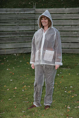 Campmaster  Clear  Vinyl  Three Piece Rain Suit