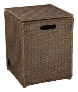 Bond Manufacturing  Asheville  Envirostone  19-9/16 in. H x 18 in. D x 15-3/4 in. W Brown  Tank Hide