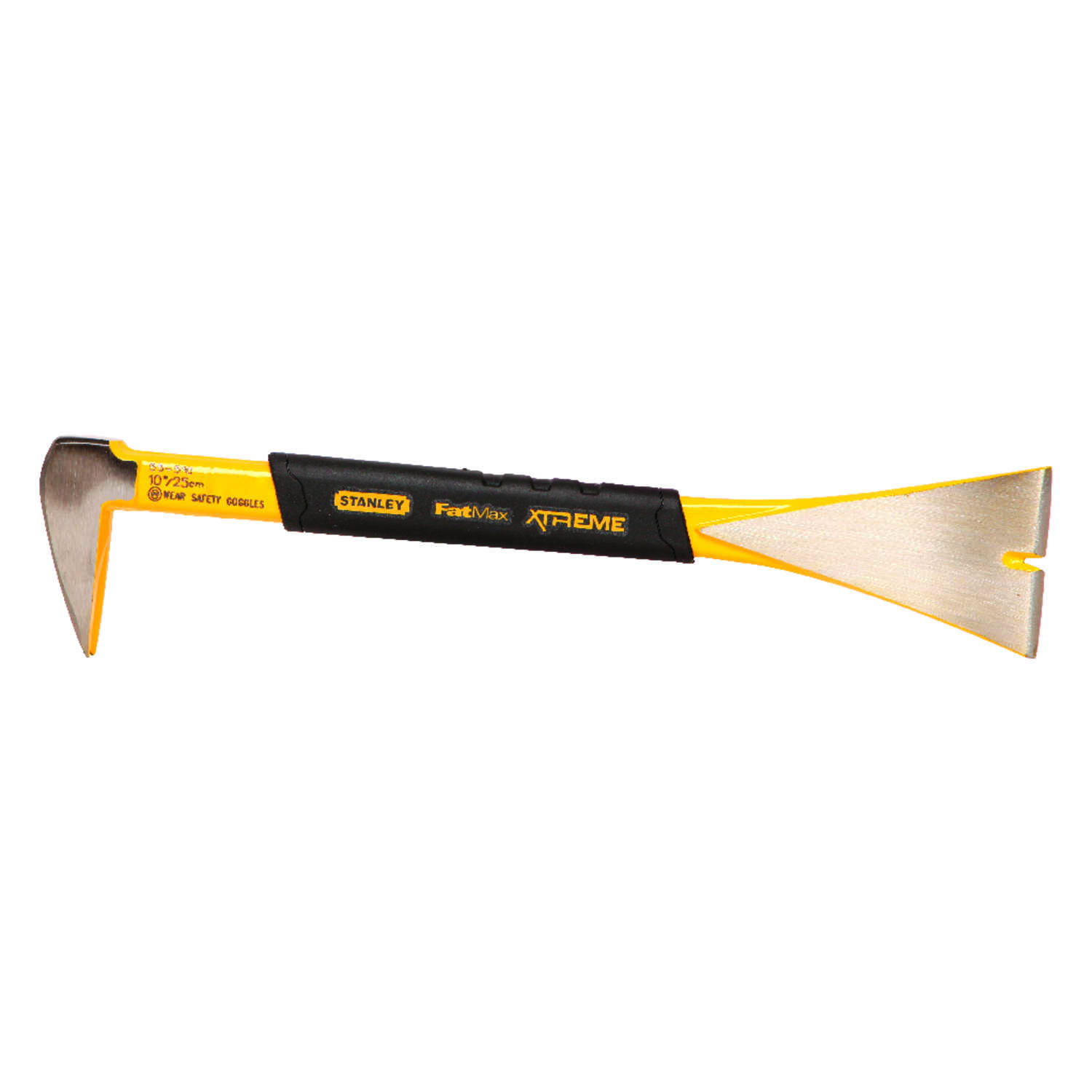 Stanley  10 in. L x 1-3/4 in. W Forged Steel  Molding Bar  Yellow  1 pc.