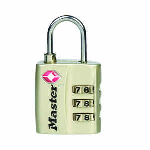 Master Lock  1-5/16 in. H x 3/8 in. W x 1-3/16 in. L Metal  3-Dial Combination  Luggage Lock  1 pk