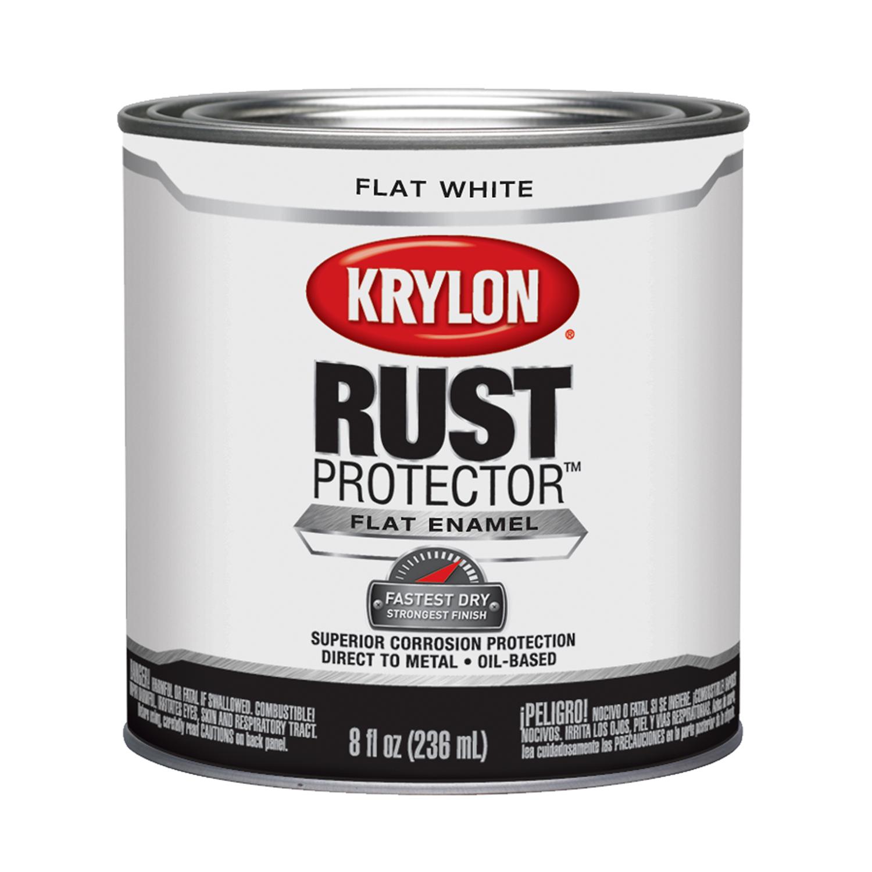 krylon indoor and outdoor flat white enamel 32 pt rust protector Cold Galvanizing Primer krylon indoor and outdoor flat white enamel 32 pt rust protector paint