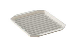 Nordic Ware  8 in. W x 9-3/4 in. L Bacon Rack  White