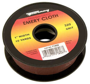 Forney  360 in. L x 1 in. W x 10 yd. L Extra Fine  Emery  Sandpaper  Emery Cloth  320 Grit 1 pk